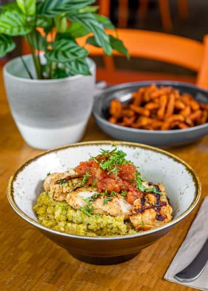 tandoori chicken bowl