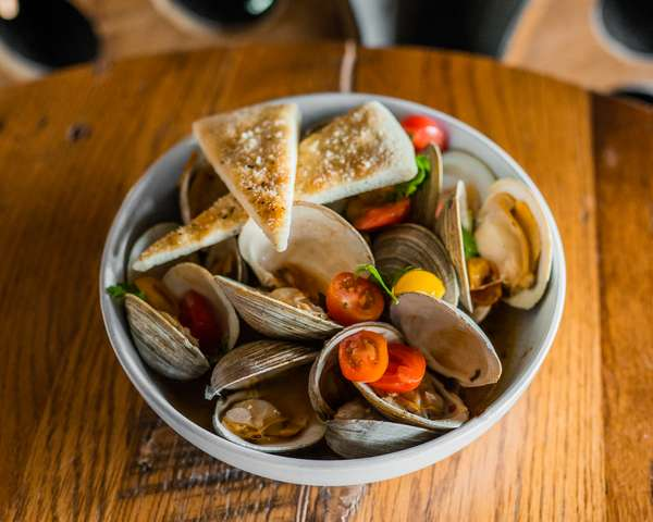 Wood Fired Steamed Clams
