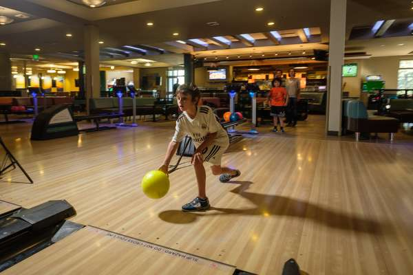 Kid bowling