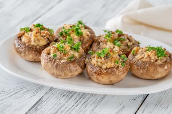 Sicilian Stuffed Mushrooms