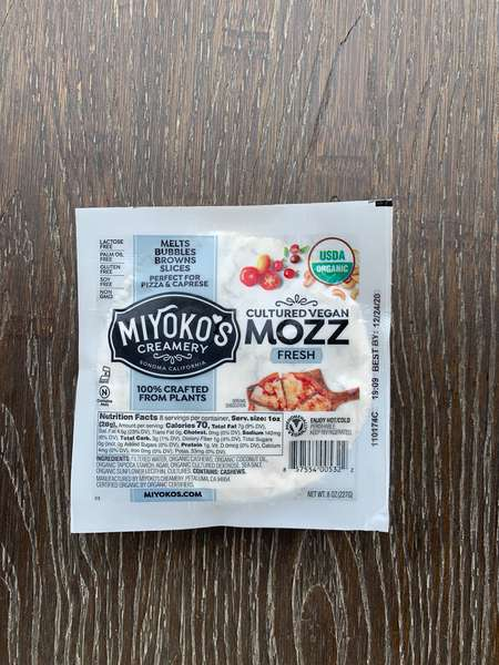 Organic Miyoko's Mozzerella