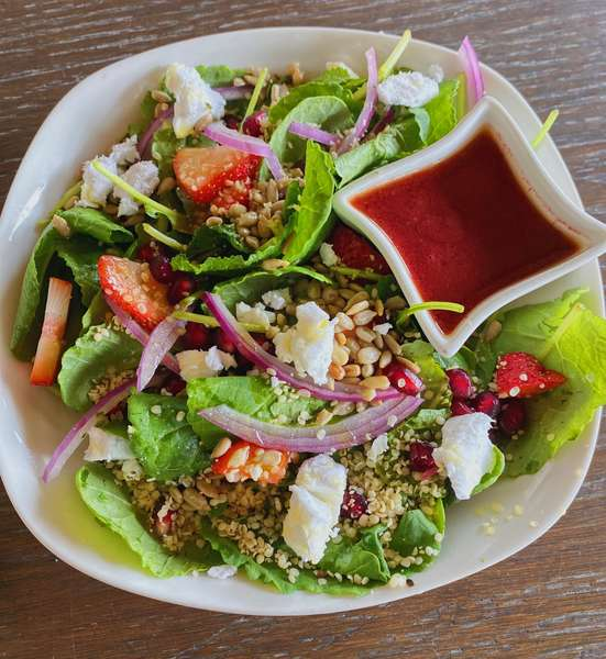 Seasonal Baby Kale Salad