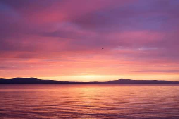Frye Island sunset