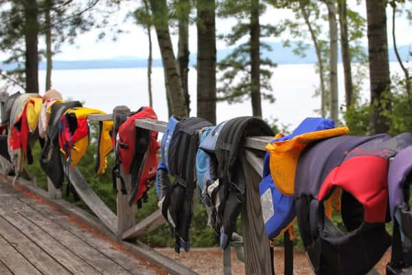 Life Jackets on the railing