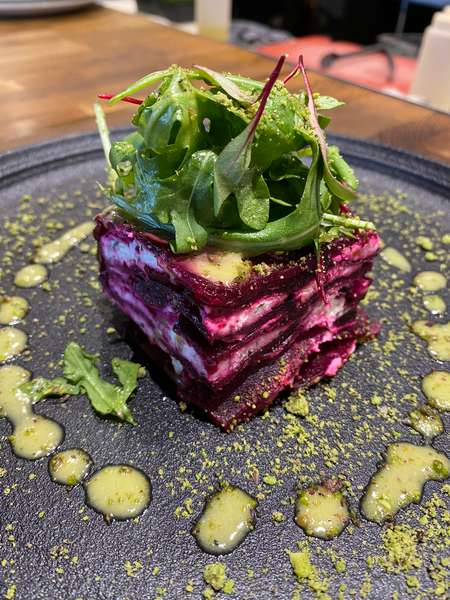 Roasted Beet Strata Salad