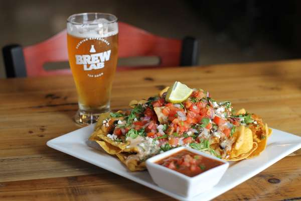 beer and nachos