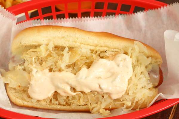 Reuben hotdog