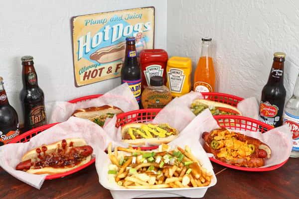 assorted hotdogs