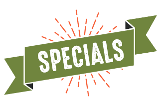 Weekly Specials are back!!