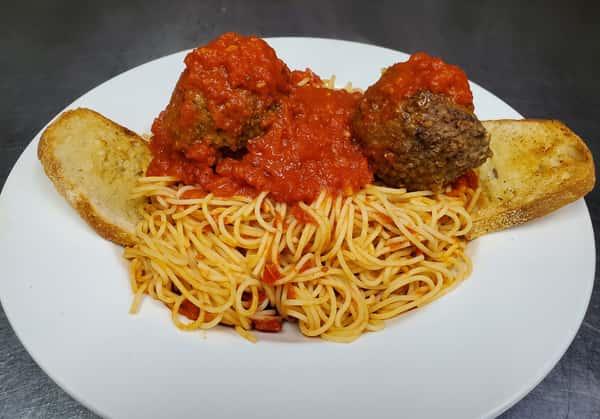 Pasta & Meatballs or Sausage