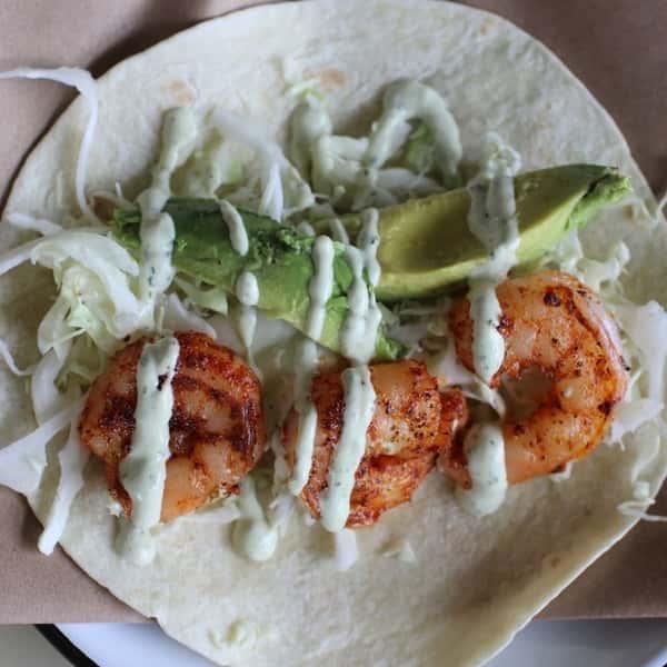 Del Mar Blackened Shrimp Tacos