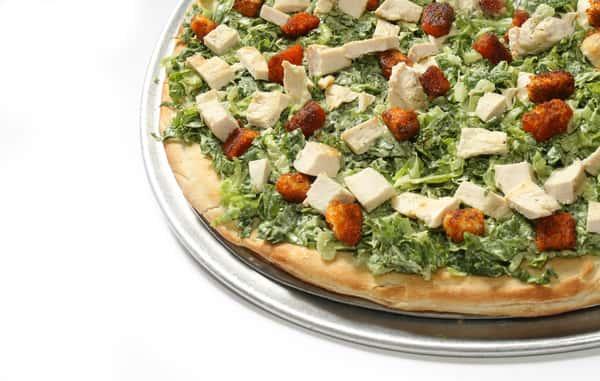 Chicken Caeser Salad Pizza
