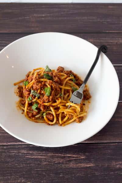 Impossible Vegan Bolognese Pasta