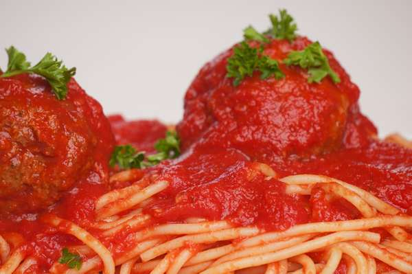 Child's Spaghetti with Meatball
