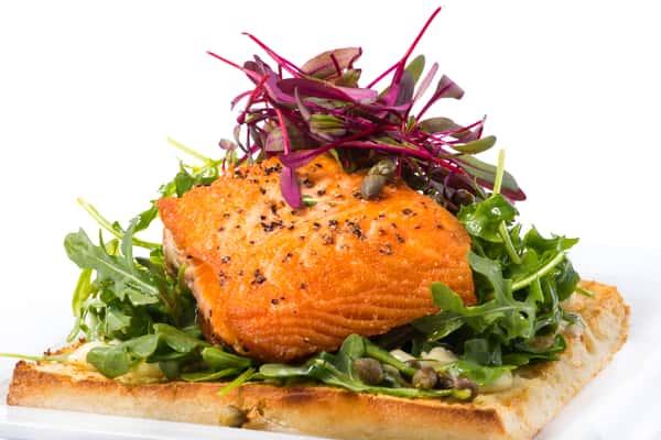 Open-Faced Salmon Sandwich