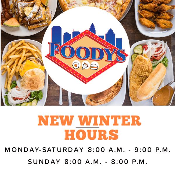 New Winter Hours Monday - Saturday 8AM - 9PM Sunday 8AM - 8PM