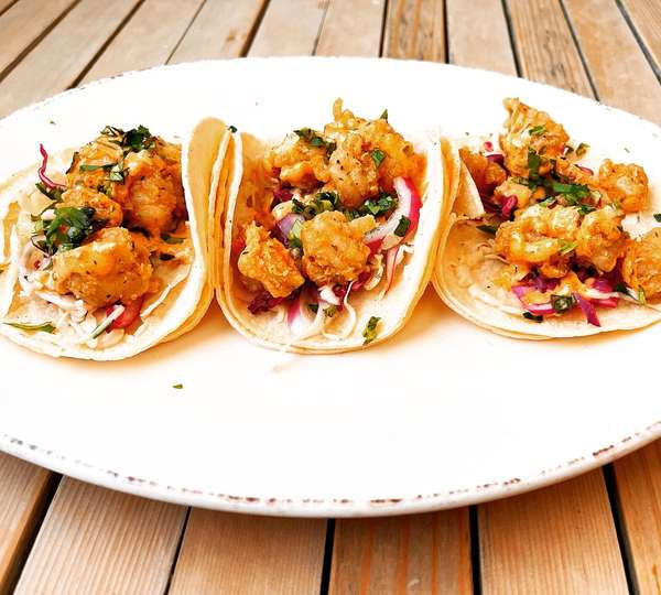PO BOY SHRIMP TACOS