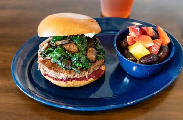 the impossible burger (veggie)