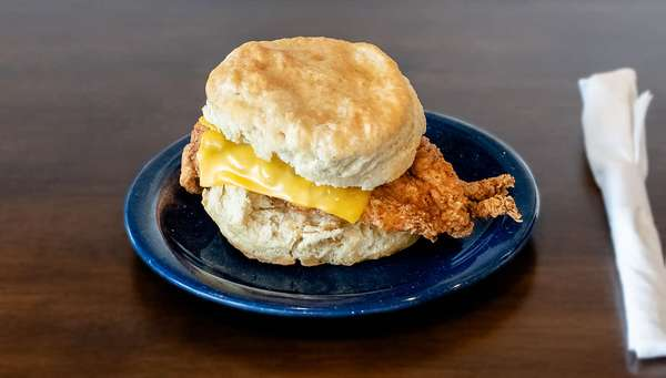 chicken and cheese biscuit
