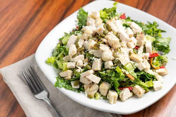 southwestern chicken caesar salad