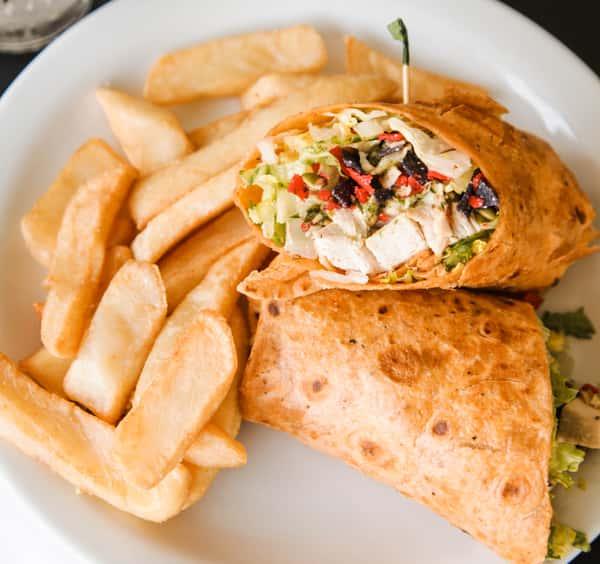 Southwestern Chicken Caesar Wrap