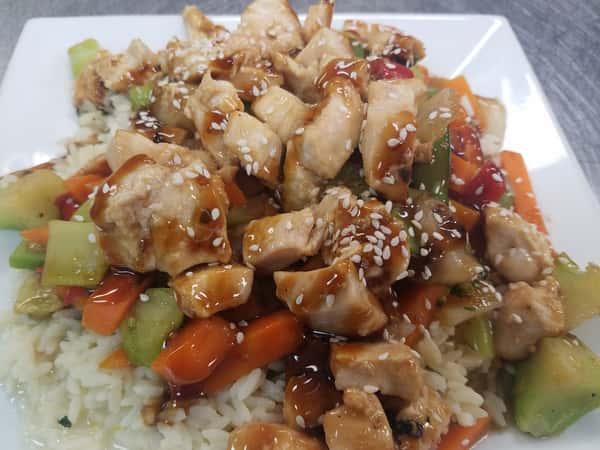 Chicken Stir Fry Over Rice