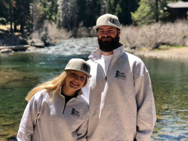 Gray Mosaic 1/4 Zip Sweatshirt