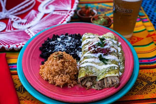 Chicken & Green Chile Enchilada
