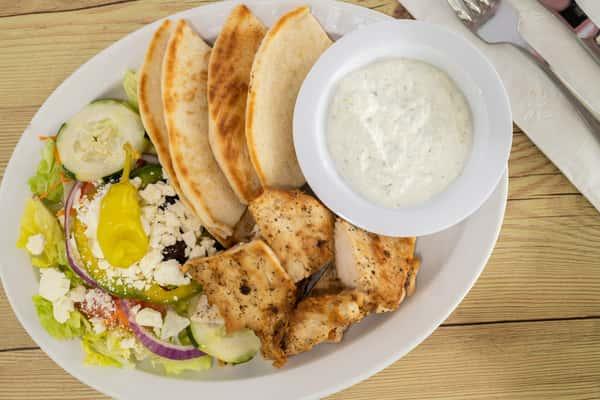 Chicken Souvlaki Platter