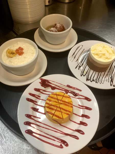 Kheer, Kulfi, Gulab Jamun, Triple Mousse Cake