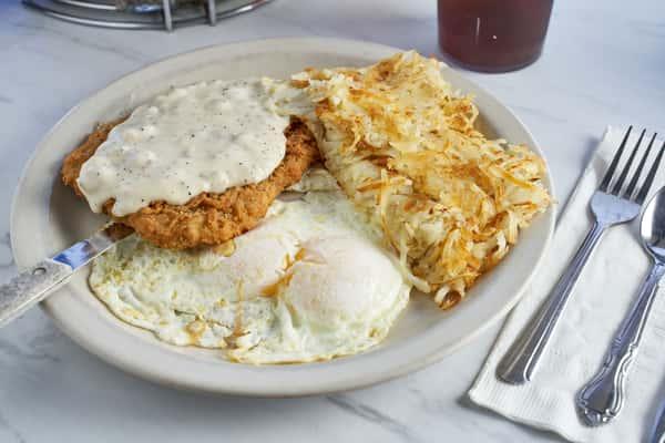 2 Eggs & Chicken Fried Steak