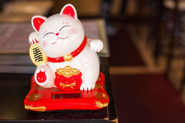 Chinese lucky cat figurine