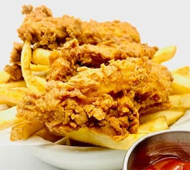 Fried Chicken Tenders and Fries