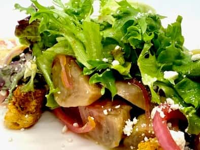 Golden Beet Panzanella Salad