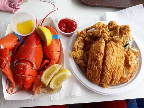 lobster and fried