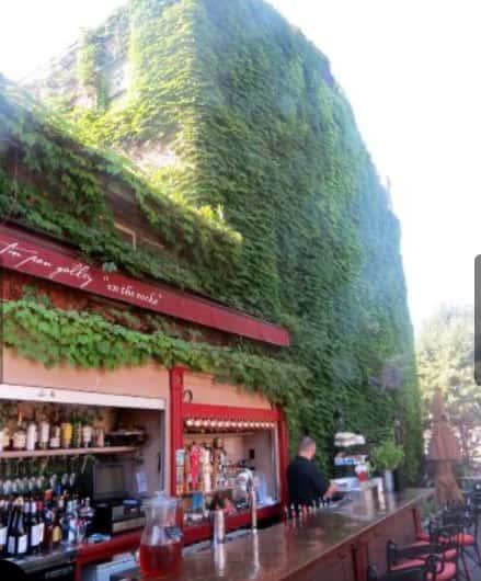 bar on patio