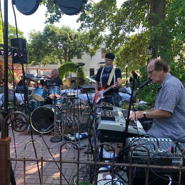 musicians on patio