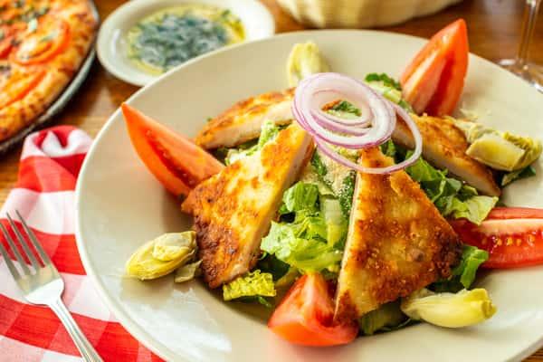 Romano Crusted Chicken Salad