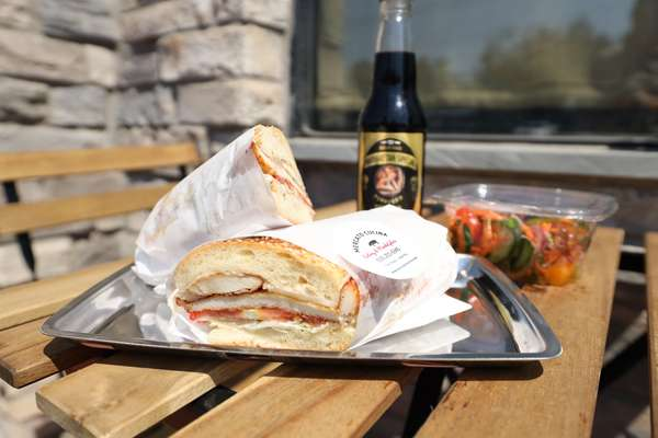 sandwiches and drink
