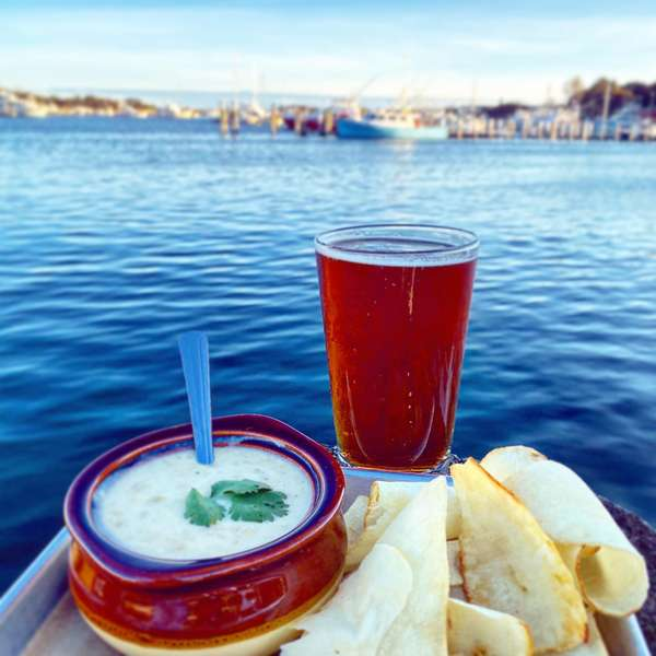 chips, dip and beer