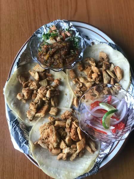 tacos de pollo asado
