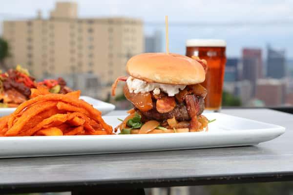 Chipotle Peach & Bacon Burger