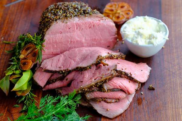 Herb Roasted Angus Beef with Chicken Entree