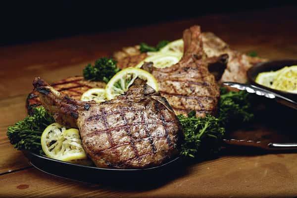 """Creekstone Farms """"Duroc"""" All Natural Center Cut Pork Chop"""