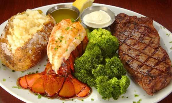 10 Oz Lobster Tail & 9 Oz Top Sirloin Steak