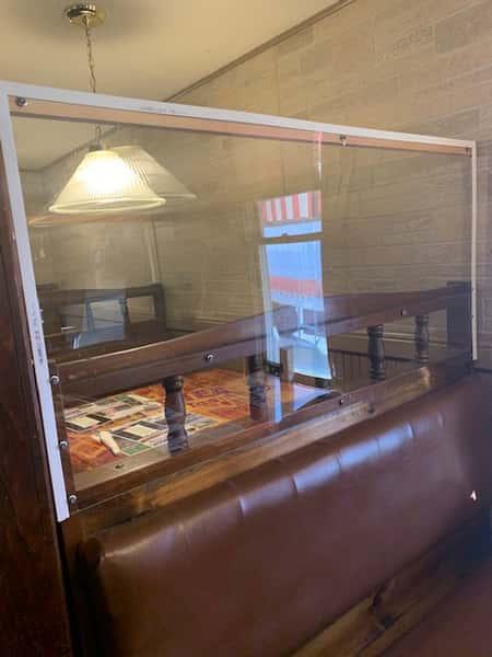 Interior social distancing and plexi glass precautions