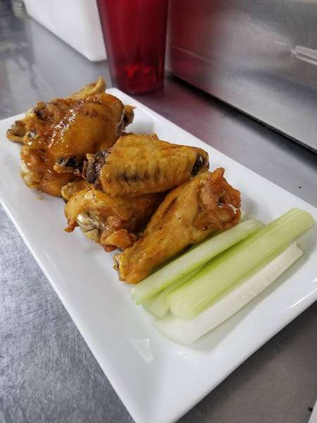 Wings and celery