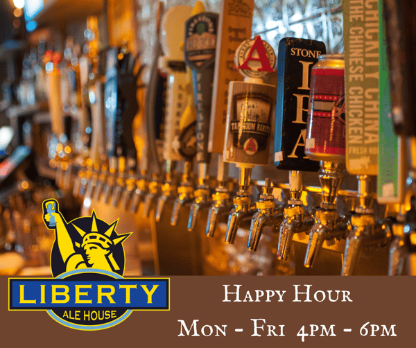 happy hour add monday - friday 4pm - 6pm