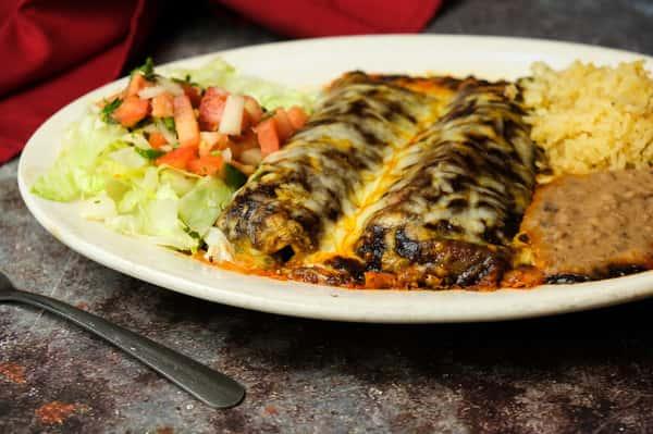 Vegetable Mole Enchiladas