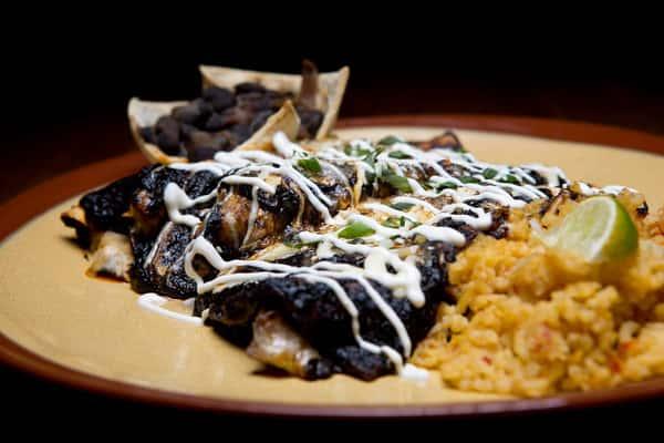 chicken mole enchilada